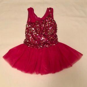 Little Star dance dress up ballet leotard sz MC